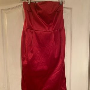 Express sexy strapless red minidress